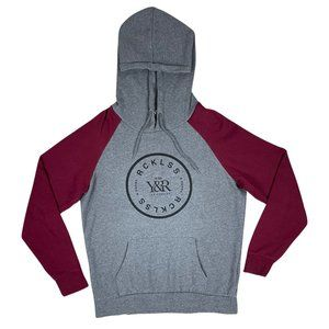 Young & Reckless Grey/Maroon Hoodie
